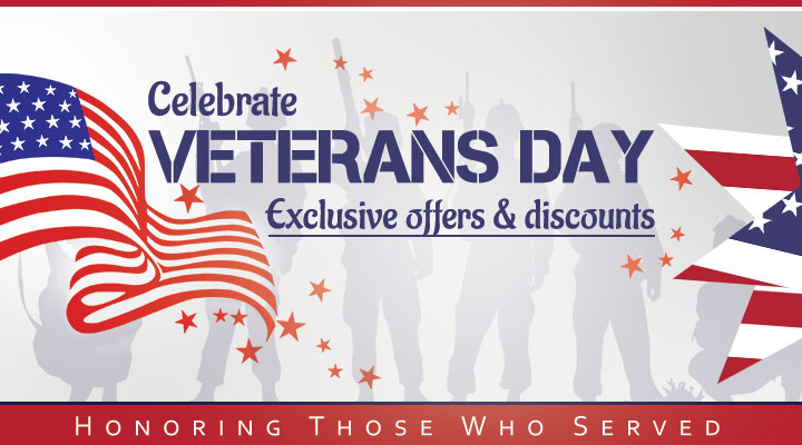 Enjoy an amazing veterans day with these exclusive offers and discounts